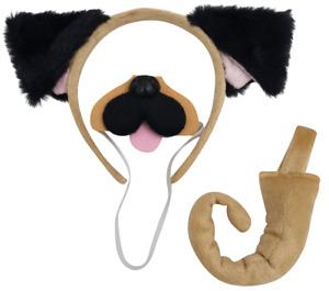 BROWN DOG FLOPPY  Ears Headband Fancy Dress Costume Accessory