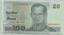 Thailand 20 baht banknote UNC 15 series