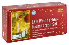 Idena LED Weihnachtsbaumkerzen m .Fernbedienung innen kabellos warmweiß,10 Stück