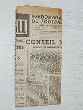 FRANCE FOOTBALL OFFICIEL HEBDOMADAIRE FFF N°412 09/02 1954
