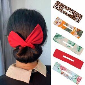 2pcs Hair Bun Maker Deft Bun Fabric Headbands for Women Summer Knotted HairPins