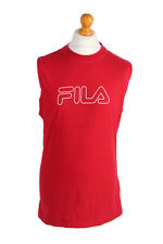 1088bd9d8015d FILA Sleeveless 100% Cotton T-Shirts for Men for sale