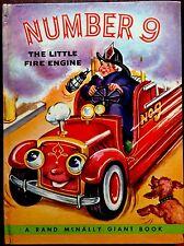 NUMBER 9 The Little Fire Engine ~ Vintage GIANT Elf Book Large Hardcover