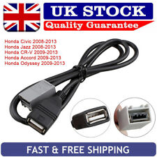 Stereo AUX USB Cable Adapter For Honda Civic Jazz CRV Accord Odyssey 2008 - 2013