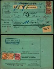 M548 Germany shipment bulletin Switzerland Bonn Zurich 1900 perfin FSV
