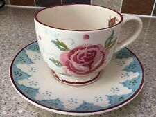emma bridgewater rose cup and saucer, mary fedden design, chip to cup base