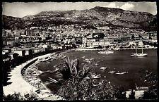 Principaute de Monaco s/w AK  ~1950/60 Hafen Blick über Monte Carlo ungelaufen