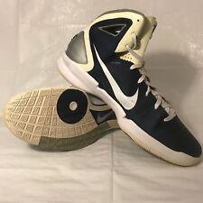 Nike Hyperdunk 2010 TB Basketball Shoes Navy/White/Silver SZ 18 - 407627-401