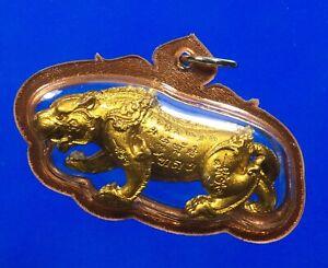 Thai Amulet TIGER LP PHAT OLD THAI BUDDHA AMULET VERY RARE