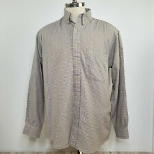 Men's BURBERRY LONDON Long Sleeve Plaid Shirt Size L Made in USA Vintage EUC