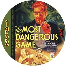 """The Most Dangerous Game (1932) Drama and Mystery """"B"""" NR CULT Movie DVD"""
