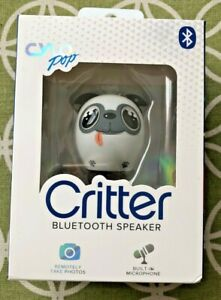CYLO Pop Doggy Critter Bluetooth Speaker Built in Mic Remotely Take Photos