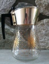 Vintage Retro Atomic Starburst 6 Cup Coffee Pot Carafe with Lid, 1960's
