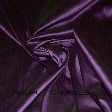 56Wide 100% Polyester Faux Silk Dupioni Fabric Shantung Royal Purple BY THE YARD