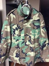 Us Army Woodland M-65 Field Jacket Coat Cold Weather Camo Med-Reg Made In Usa