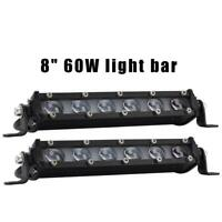 8 Inch 60W LED Work Light Bar IP67 Off Road Spotlight Floodlight Fog Lamp Truck