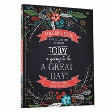Coloring Book For Adults Beautiful Great Day Inspirational Stress Relief Relax
