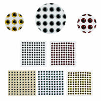 500pcs 3-6mm Fish Eyes 3D Holographic Lure Eyes Fly Tying Jigs Crafts Dolls FT