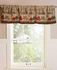 "COUNTRY KITCHEN FARM THEMED 54""W X 15""L FARM TO TABLE  WINDOW CURTAIN VALANCE"