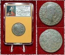Coin King Of Spain FERDINAND VII Cross Castless and Lions Reverse 2 MARAVEDIS