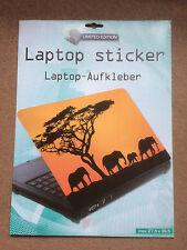 Laptop Cover Skin Sticker - African Elephants - 27.5 x 36.6cm