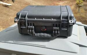 PELICAN Case Black No Foam Unknown Model Interior 4 x 9.5 x 14 Used Some Scuffs