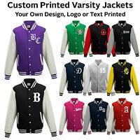 Varsity College Baseball Letterman Jacket Personalised Print Custom Print