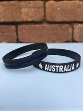 Australia, Silicone Bracelet, Wristband, Blue, Basketball, Sports, Custom.