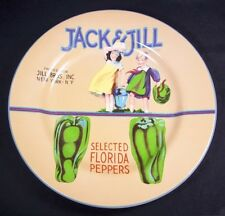 "Sakura for Oneida Vintage Labels Salad plate Jack & Jill Florida Peppers 8.25"""