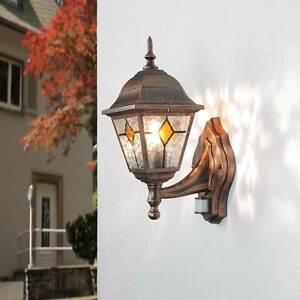 Sensor Wand Außen Leuchte Lampe mit Bewegungsmelder in antik rustikal Hof Garten