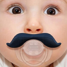 Funny Dummy Dummies Pacifier Novelty Teeth Moustache Baby Child Soother Hot FOUK
