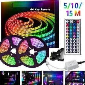 15M 10M 5M DIY 5050 SMD RGB LED Strip Lights Lamp + 44Key IR Remote Controller