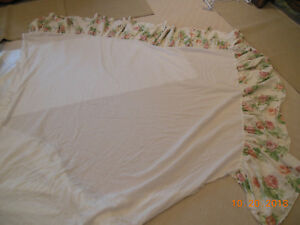 Laura Ashley English Rose MASK Material Fabric Bed Skirt Orange Pink Cabbage