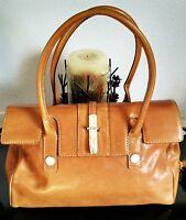 "Women's Classy Large Brown Leather ""MICHAEL KORS"" Designer Satchel Bag Purse"