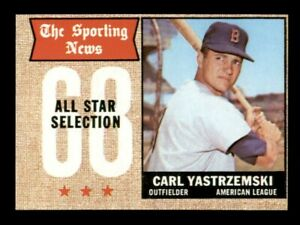 1968 Topps Set Break # 369 Carl Yastrzemski All Star NM-MINT OC *OBGcards*
