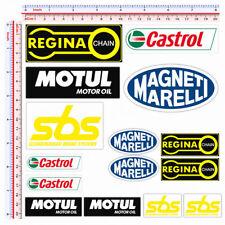 SBS motul castrol regina chain marelli adesivi sponsor sticker  print pvc 15 pz.