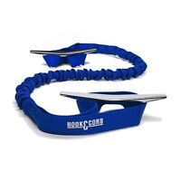Dock Tie Bungee 36 Inches With Two Loops (Pack of 2) Made in America (Blue)