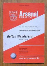 Vintage 1967 Arsenal vs Bolton Wanderers Soccer Football Program, England