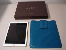 GUCCI GG  Apple iPad 2018 6 Gen. Hülle Tablet Tasche Etui Case Echtleder blau