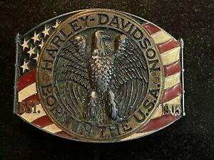 Vintage Raintree Harley Davidson Born in the USA  1978 Belt Buckle.