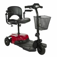 Drive Medical Red Bobcat X3 3 Wheel Transportable Scooter Black