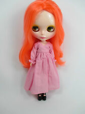 Blythe Outfit Handcrafted nightgown pajamas dress basaak doll pink 955-13