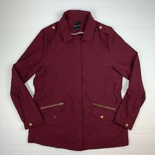 eden society collier cargo jacket women's large full zip/button up stretchy