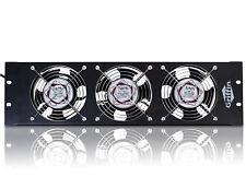 Studio Rackmount Cooling Fan - 3U Exhaust Rack Equipment Gear Server DJ PA AMP