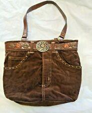 Western Brown Purse corderoy jean hand bag