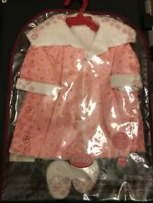 American Girl And Gotz Doll ~ Pink Robe N Slippers Fit 18� dolls Brand New!