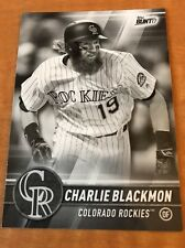 Charlie Blackmon Rockies 2017 Topps Bunt Physical BLACK PARALLEL #50
