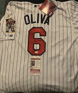 TONY OLIVA Minnesota Twins Majestic NEW size 52 jersey autographed & signed JSA