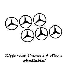 MERCEDES emblème logo SET DE 6 Noir 10 cm Enjoliveurs