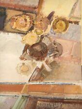 PROFESSOR BRUNO MERBITZ 1918-1997 BERLIN - INTERIEUR MIT SONNENBLUMEN 140 x 100